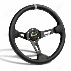 Deep Dished 350mm Racing Steering Wheel Microfiber Leather For Yo Momo Hub X1