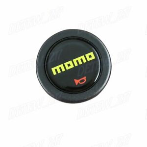 1pcs Brand New Momo Steering Wheel Horn Button Black Yellow Momo 59mm
