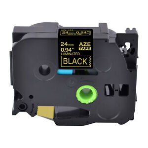 1pk Compatible For Brother Tz354 Tze354 Gold On Black Label Tape P touch 0 94