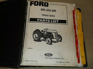 Ford 9n 2n 8n 1939 1952 Tractor Parts Manual Book Catalog List