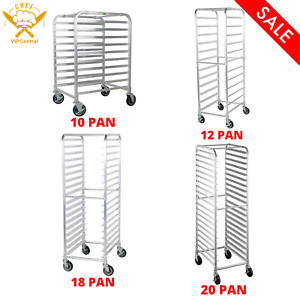 10 12 18 20 Pan End Load Bun Sheet Pan Rack Kitchen Holder Storage With Casters