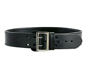 Aker Leather B01 Sam Browne Leather lined Duty Belt 2 1 4 Width Black