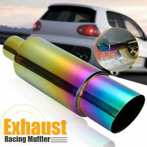 Stainless Steel Car Racing Exhaust Muffler Rear Tail Pipe Tip End Trim Straight