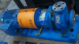 Goulds 10 Hp 316 Ss Centrifugal Pump 1x1 5 6 230 460 Vac Model 3296 Imp 5 62