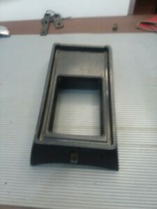 1971 1972 1973 Ford Mustang Short Console With Ashtray Black Plastic Oem
