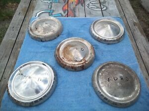 Vintage Ford Truck Hubcap 10 Dog Dish Center Cap Wheel Cover 50s 60s Antique X5