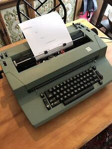 Vintage Green Ibm Selectric Ii Correcting Typewriter