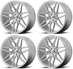 22x9 Asanti Black Abl 11 Sirius 5x112 32 Brushed Silver Wheels Rims Set 4