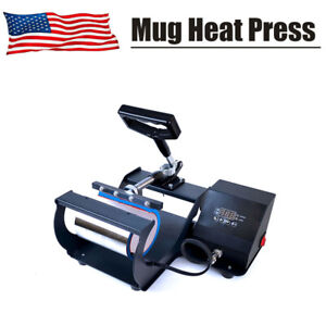 Mug Heat Press Transfer Machine 11 Oz Coffee Cup Sublimation Digital Display Us