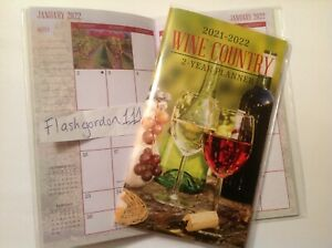 1 2021 2022 Wine Country Two Year Planner Pocket Purse Calendar 2 Year Datebook