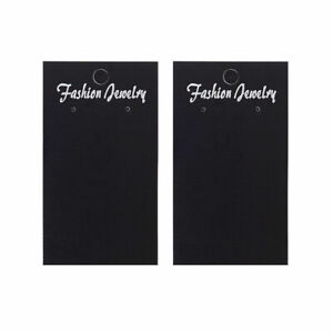 Rectangle Black Earring Displays Paper Cards