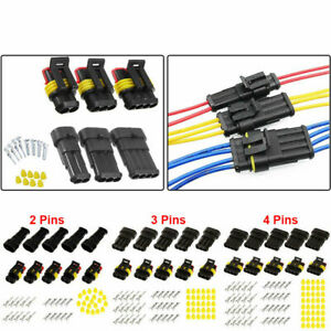 15 Kits 2 3 4 Pin Way Car Electrical Wire Connector Plug 16 Awg Super Seal Set