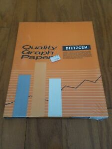 Vintage Dietzgen Quality Orange Graph Paper 340 l310 8 5 X 11 100 Sheets New