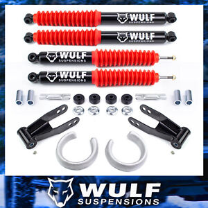 Wulf 2 5 Front 2 Rear Leveling Lift Kit W Shocks For 98 11 Ford Ranger 2wd