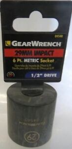 Gearwrench 84540 29mm Impact 6 Point 1 2 Drive Socket