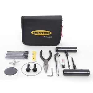 Smittybilt 2733 Tire Repair Kit Includes Gauge repair Cords 2 Valve Stems wire