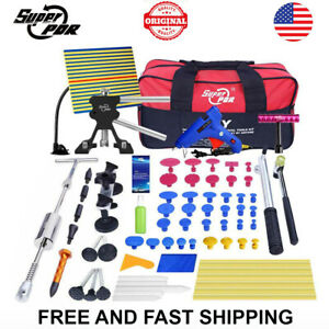 85pc Paintless Dent Repair Puller Lifter Pdr Tools T Bar Hammer Removal Glue Kit