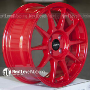 Circuit Cp23 16 7 4 100 35 Gloss Red Wheels Type R Style Fits Honda Civic Jdm
