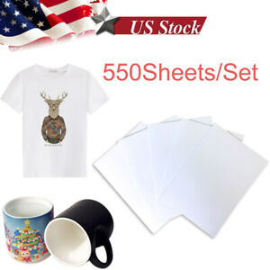 550 Sheets A4 Heat Transfer Sublimation Paper For Diy Gifts Mug T shirt Plates