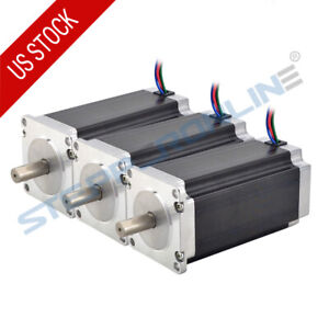 3pcs High Torque Nema 23 Stepper Motor 3nm 425oz in 4 2a 10mm Shaft 4 wire Cnc