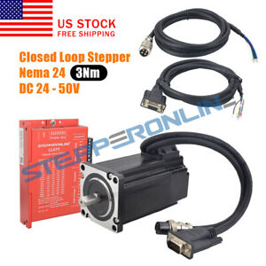 3nm Nema 24 Closed Loop Stepper Servo Motor 2 Phase Hybrid Driver Cl57y Cnc Kit