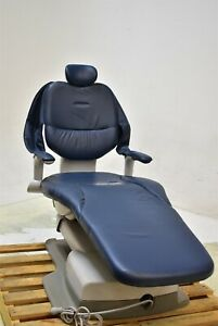 Belmont Quolis 5000 Dental Exam Chair Ultraleather Blue For Patient Comfort