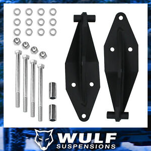 Wulf Front Dual Shock Bracket Kit For 99 04 Ford F350 Super Duty 4wd