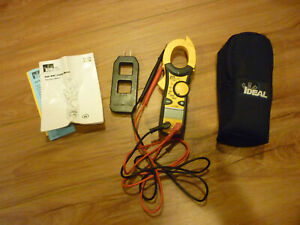 Ideal 61 746 600 Amp Clamp pro Clamp Meter With True Rms Line Splitter Volt