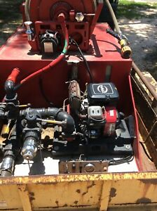 Spartan Forestry Skid Fire Suppression Unit 300 Gallons 18 Hp Up To 200psi