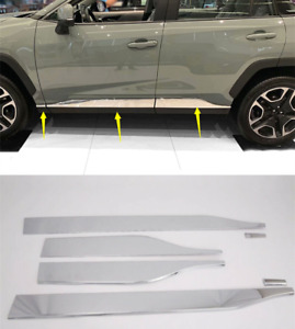 Accessories Chrome Side Door Body Molding Cover Trim 6pcs For Toyota Rav4 19 20