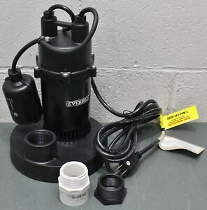 Everbilt Submersible Sump Pump Sba050bc 1 2 Hp 1 1 2 Or 1 1 4 Fnpt Discharge