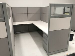 Nice Knoll 6 x6 6 x8 8 x8 Office Cubicles Workstations glass