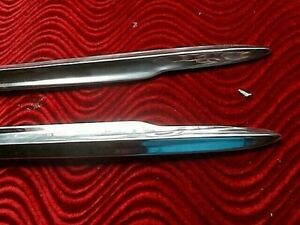 1951 1952 1953 Buick Front Fender Trim Moldings Nos Pair Merc For Shoe Box 49 50