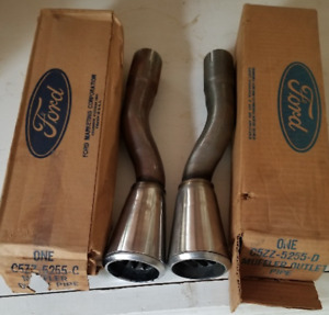 Nos 1965 1966 Ford Mustang Gt Dual Exhaust Rear Outlet Exhaust Trumpets Tip Set
