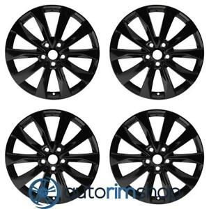 New 19 Replacement Wheels Rims For Nissan Maxima 2016 2020 Set Black