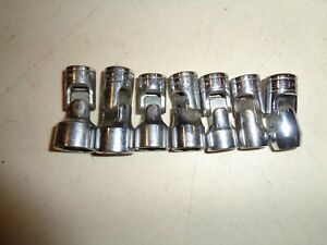 Snap on Tool 3 8 Dr 7 Pc Swivel Socket Set 6 Point 3 8 To 3 4 Usa