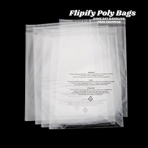 Poly Bags Suffocation Warning Clear 1 5 Mil Merchandise Apparel For Amazon