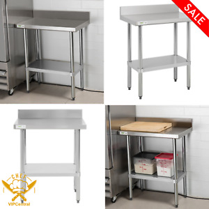 18 X 30 In Stainless Steel Commercial Work Table With 4 Backsplash Undershelf