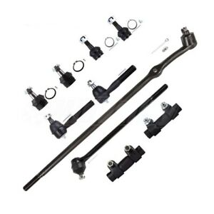 Full Front Suspension Tie Rod Drag Bar Ball Joint Kit For Ford F 150 Bronco 4wd