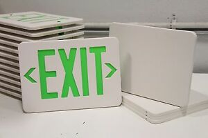 Lot Of 13 Emergi lite Elxn400g Plastic Selfpowered Exit Green exit Sign