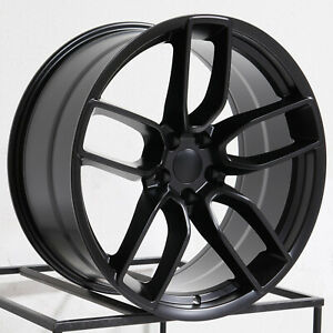 One 20x10 5 Vors Dg10 Fit Dodge Charger Challenger 5x115 22 Black Wheel Rim 71 5