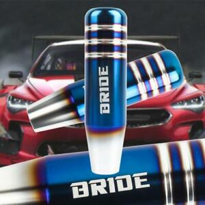 13cm Bride Aluminum Burnt Blue Universal Gear Shift Knob Shifter Lever Head