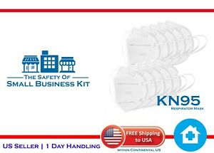Kn95 Disposable Respirator Safety Mask Bfe 5 Layers Filtration Dust Pack Of 10