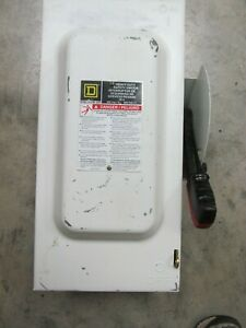 Square D H362 Safety Switch 60 Amp 3 Pole 600vac Type 1 Fusible 377