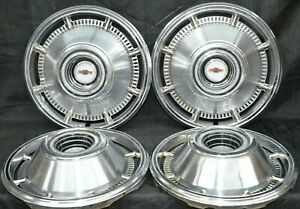 1966 Chevrolet Chevy Belair Impala Biscayne Nomad Hubcaps Wheel Covers H 3968