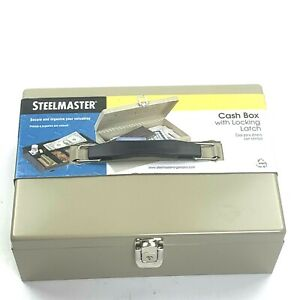 Mmf Steelmaster Cash Box With Locking Latch And Two Keys New