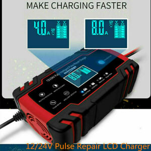 Car Jump Starter Emergency 12v 24v Power Bank Battery Charger W Lcd Display