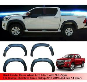 Fender Flares Wheel Arch 6 Inch Nuts Use For 4x4 Toyota Hilux Revo Rocco 18 19