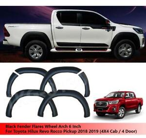 6 Inch Fender Flares Wheel Arch Use For 4x4 Toyota Hilux Revo Rocco 2018 2019