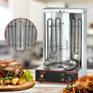 3000w Electric Barbecue Grill Skewer Bbq Machine Vertical Automatic Rotating New